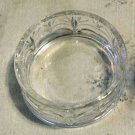 Vintage Pressed Glass Trinket Nut Candy Dish w/Foliage Pattern