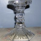 Vintage EAPG Pineapple Pattern Glass Candlestick