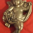 Vintage Gilded  Chalkware Angel Cherub  from Miller Studio 1966