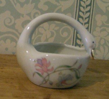 Vintage Takahashi Ceramic Swan Bowl