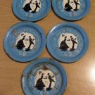 Five Welch's Grape Juice Coasters, Courting Couple Silhouttes