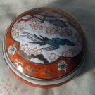 Vintage Imari Style Trinket Box from Macau, Handpainted, Gold Trim