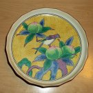 "Andrea by Sadek 7.2"" Decor/Decorative Plate Tray Shallow Bowl, Bird & Fruit"