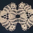 "Vintage 15"" Inch Ivory Cotton Crochet Lace Doily Handmade Estate Sale Find"