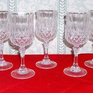 Five Cris D'Arques  Longchamps Crystal Wine Glasses