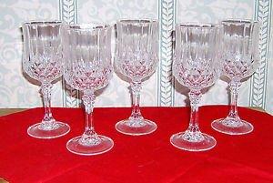 Five Cris D'Arques  Longchamps Crystal Wine Glasses