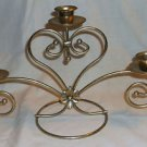 Brass Candlebra, Holds Three Candles
