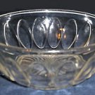 Vintage Anchor Hocking Pressed Glass Bowl w/Oval Medallions & Manhattan Handles