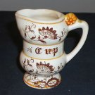 Vintage 1/4 Cup Ceramic Measure with Paisley Pattern