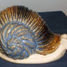 Glazed Ceramic Pottery Snail Penny Bank