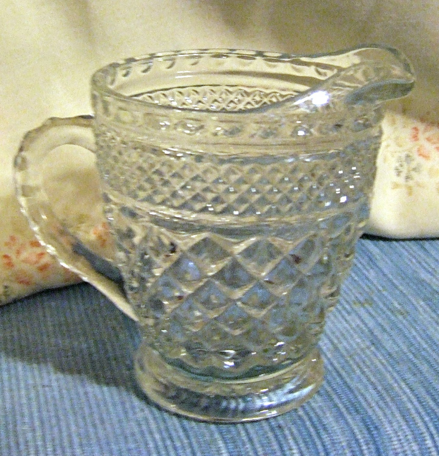 Vintage Wexford Creamer, Pressed Glass from Anchor Hocking