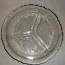 Three part Relish Dish, Frosted Fruit Pattern
