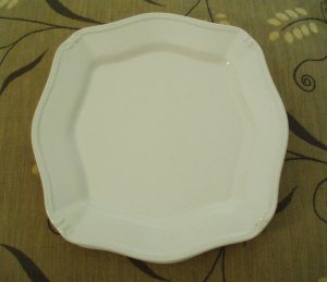 """Isabella"" by Signature Housewares, Inc. - Stoneware Dinner Plate � Ivory"
