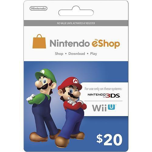 $20 US Nintendo eShop Prepaid Gift Card