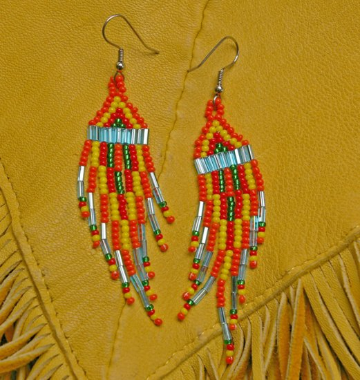 Montana made Beaded Earrings #30