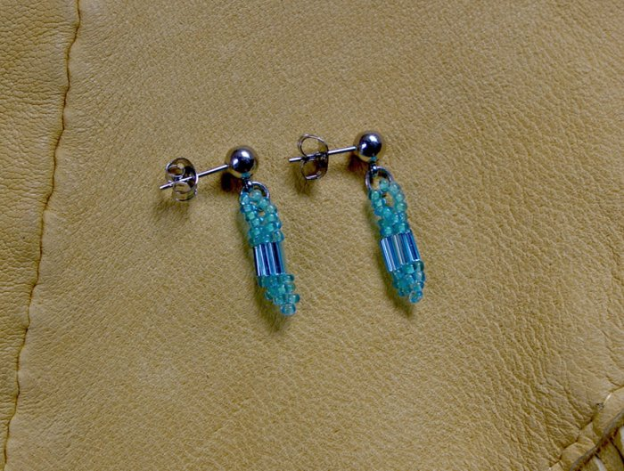 Montana made Beaded Earrings #67C