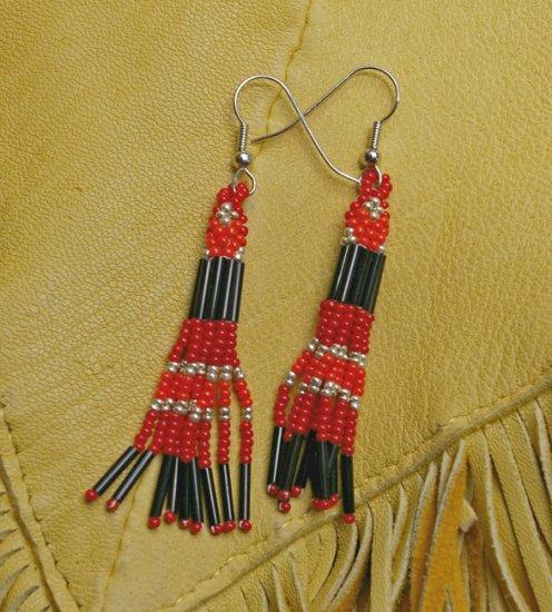 Montana made Beaded Earrings #35-T