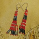 Montana made Beaded Earrings #35-T