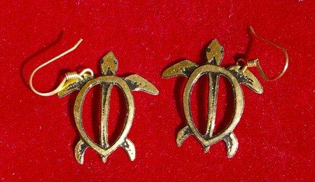 "Gold Sea Turtle ""Honu"" Earrings"