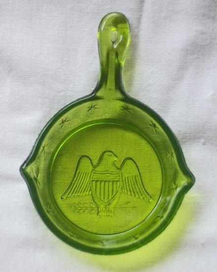 Commemorative American Eagle Glass Skillet
