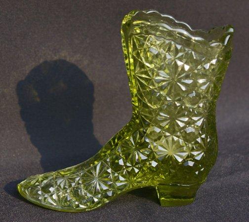 Green Daisy and Button Fenton Boot