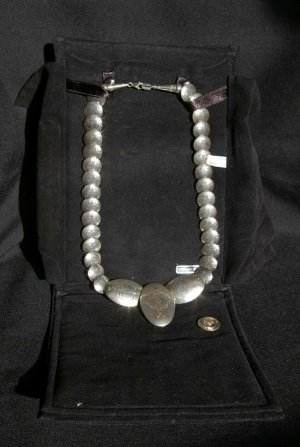 Navajo Style Sterling Silver Necklace#032