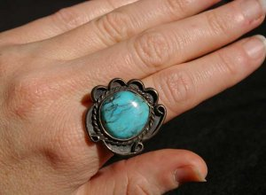 Turquoise Nugget Ring #036