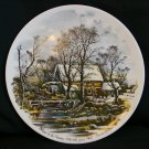 "Currier & Ives ""Winter in the Country-The Old Grist Mill"" Collectors Plate"