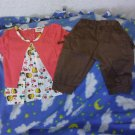 Girls Toddler size 2T capri and shirt set