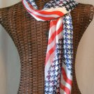 Waving Flag Scarf USA American Red White Blue New 13x60 inch Long Neck #f
