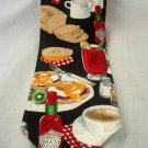 Tabasco Neck Tie Black Embossed Logo Breakfast Food Silk Made USA #f