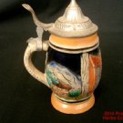 Beer Stein Lidded Mini Hofbrau Haus German Mug DBGM on lid Vintage New #f