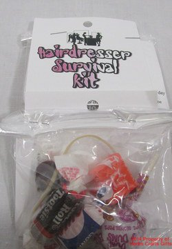Hairdresser Survival Kit New Clean Gag Gift Handmade #f