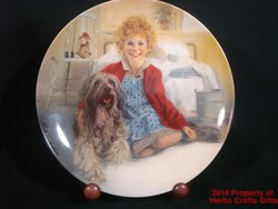 Annie Sandy Plate New Box COA Movie Musical Aileen Quinn Carol Burnett #s