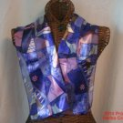 Picasso Purple Scarf Print Signature Face New 13x60 inch Long Neck #f