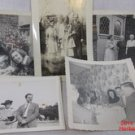 5 Photos Families 1940's Black White Snapshots Vintage #f