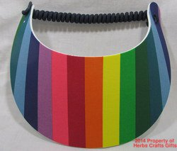 Bright Rainbow Sun Visor No Headaches New Spiral Lace 1 Size Gay Pride #f
