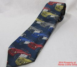 Neck Tie English Cars Blue New PL Sells United Kingdom Mens Necktie #f
