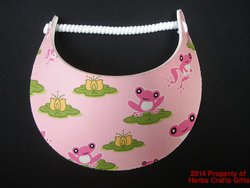 Frogs Sun Visor Pink Lily Pad No Headaches New Miracle Spiral Lace 1 Size .f