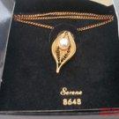 Serene Sarah Coventry Necklace NOS Box Vintage Goldtone Pearl Vintage 8648 .f