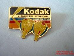 Albuquerque Balloon Fiesta Pin Kodak 1991 20th Anniversary Eastman New Mexico .