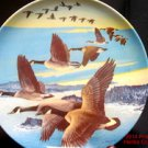 Geese Southward Bound Plate 1987 New Pentz Perfect China 5th in Series .f