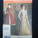 Renaissance Faire Dress Pattern Size 14-20 Uncut Elizabethan Simplicity #3782 #f