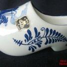 Wooden Shoe Delft Ceramic Holland Windmill Cobalt Blue White E R Sticker New .f