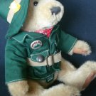 "Ranger Gus Brass Button Teddy Bear Jointed Talking 12"" Forest Friends Plush .f"