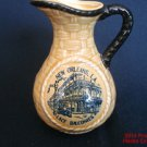 New Orleans LA Lace Balconies Pitcher New Ceramic Woven Wicker Creamer #2pa.s