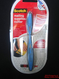 Cutter Mailing Supplies Blue Scotch Paper Scrapbooking NIP Crafts .f