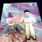 Crochet Clowns Booklet Akiko Abdoo Leisure Arts 1040 JoJo Crafts Pierrot PJ .f
