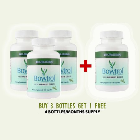 Bowtrol - NATURAL COLON CLEANSING (Buy 3 get 1 Bottle Free - Save $40!)