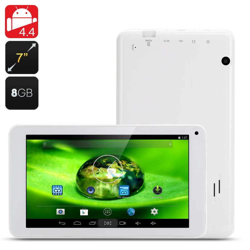 7 Inch Android 4.4 Tablet PC 800x480,ATM7021 ARM Cortex-A9,8GB Internal Memory-free global ship